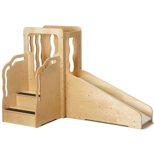 Wooden Toddler Sized Mini Loft with Slide - 64