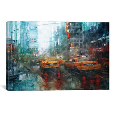 Times Square Reflections by Mark Lague Gallery Wrapped Canvas Artwork