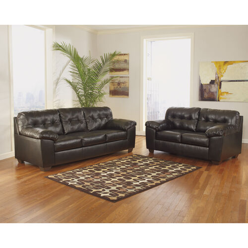 Our Signature Design by Ashley Alliston Living Room Set in Faux Leather is on sale now.