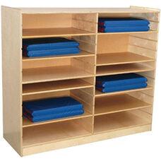 Wooden Shelf Packs For Mat Storage Center - Set of 6 - 26