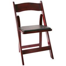 American Classic Wood Folding Chair - Set of 4 - Red Mahogany