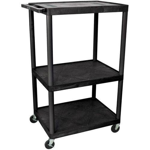 Our Endura 3 Shelf Mobile A/V Cart - Black - 32