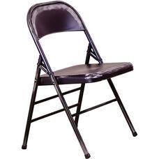 OSP Designs Bristow Distressed Steel Folding Chair - Set of 4 - Antique Black