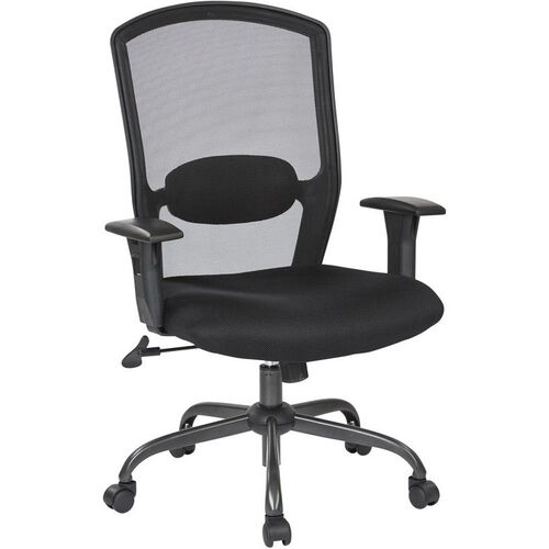 Our Work Smart Screen Back Office Chair with Mesh Seat and Titanium Finish Base - Black is on sale now.