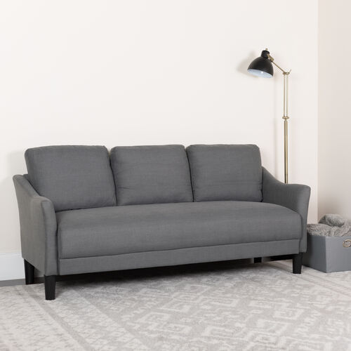 Asti Upholstered Sofa in Dark Gray Fabric