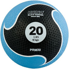 20 lbs. Rhino Elite Medicine Ball in Blue