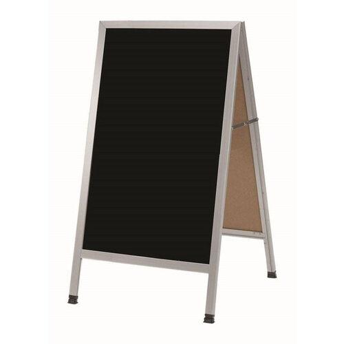 Our A-Frame Sidewalk Black Melamine Marker Board with Aluminum Frame - 42