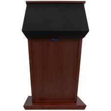 Patriot Non-Sound Solid Hardwood Lectern - Mahogany Finish - 31