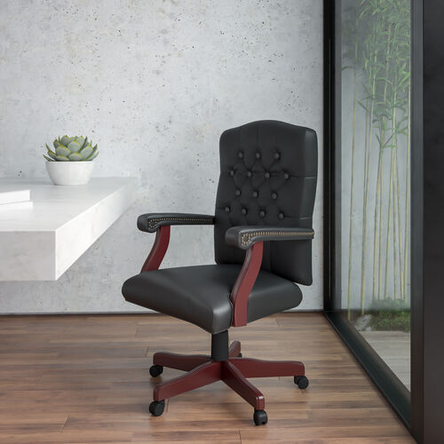 Martha Washington Executive Swivel Office Chair with Arms