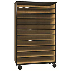 Denali 1000 Series Mobile Tote Tray Storage w/ 11 Shelves