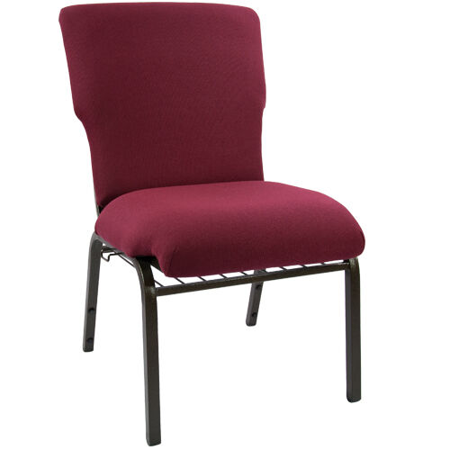 Our Advantage Maroon Discount Church Chair - 21 in. Wide is on sale now.