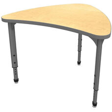 Apex Series Height Adjustable Large Chevron Activity Table - Fusion Maple Top with Gray Edge and Legs - 38