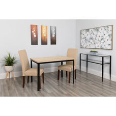 "Avalon 30"" x 45.75"" Rectangular Dining Table in Bleached Sandstone-Like Finish"