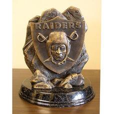 Oakland Raiders Tim Wolfe Sculpture