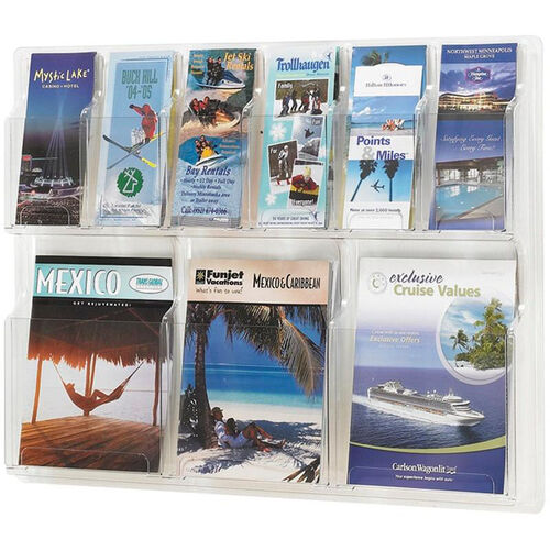 Our Reveal™ Three Magazine and Six Pamphlet Thermoformed Display - Clear is on sale now.