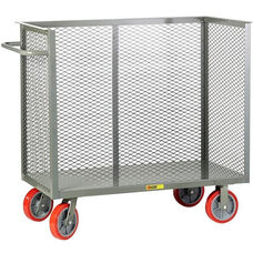 Steel Frame Bulk Truck with 3 Enclosed Perforated Sides