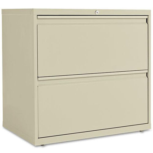 Our Alera® Two-Drawer Lateral File Cabinet - 30w x 19-1/4d x 28-3/8h - Putty is on sale now.