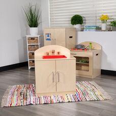 Children's Wooden Kitchen Sink for Commercial or Home Use - Safe, Kid Friendly Design