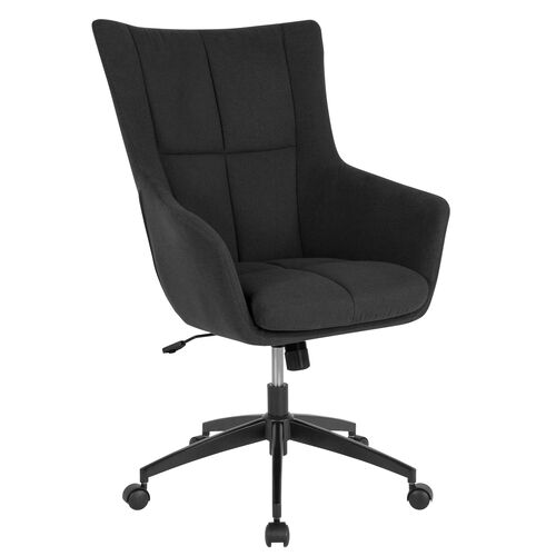 Our Barcelona Home and Office Upholstered High Back Chair in Black Fabric is on sale now.
