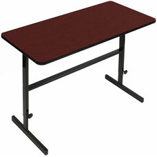 Height Adjustable Rectangular Laminate Top Standing Work Station - Cherry - 24