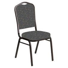 Crown Back Banquet Chair in Circuit Teal Fabric - Gold Vein Frame