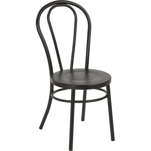 Our OSP Designs Odessa Metal Dining Chair with Backrest - Set of 2 -Matte Black is on sale now.