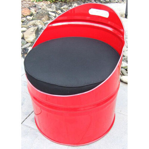 Red Loft Steel Drum Club Chair with Black Accents