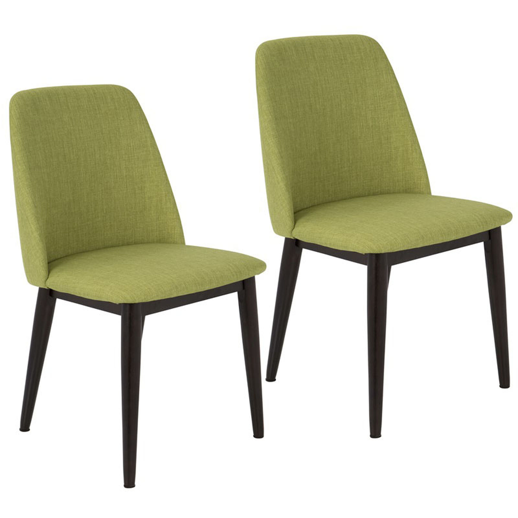 Set Of 2 Green Dining Chairs Chr Tnt Gn Bn2 Bizchaircom