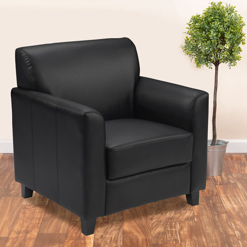 HERCULES Diplomat Series LeatherSoft Chair with Clean Line Stitched Frame
