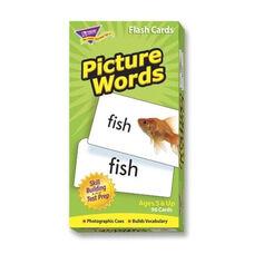 Trend Enterprises Picture Words Flash Cards - 96 Cards