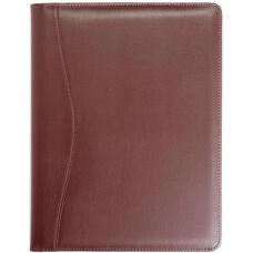 Writing Padfolio Document Organizer - Sedona New Bonded Leather - Burgundy