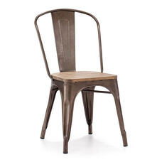 Elio Chair in Rustic Wood
