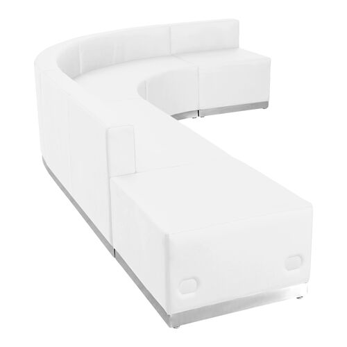 Our HERCULES Alon Series Melrose White Leather Reception Configuration, 5 Pieces is on sale now.