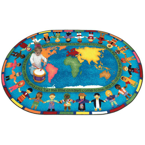 Our Let the Children Come Rug is on sale now.