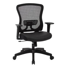 Space Seating CHX Dark Breathable Mesh Back and Padded Bonded Leather Seat Managers Office Chair - Black