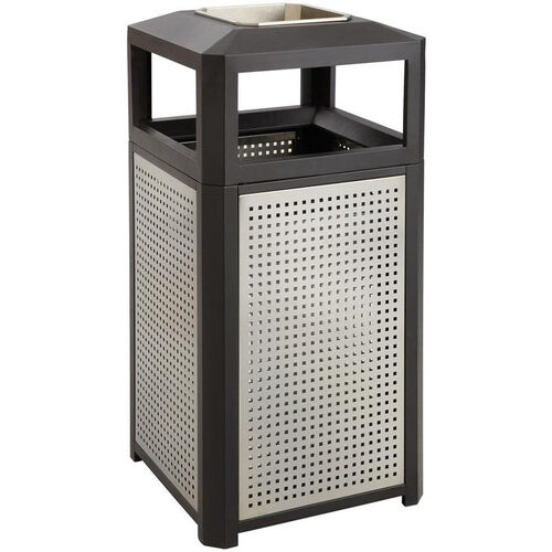 Our Evos™ 15 Gallon Steel Indoor or Outdoor Trash Receptacle with Ash Tray - Black is on sale now.