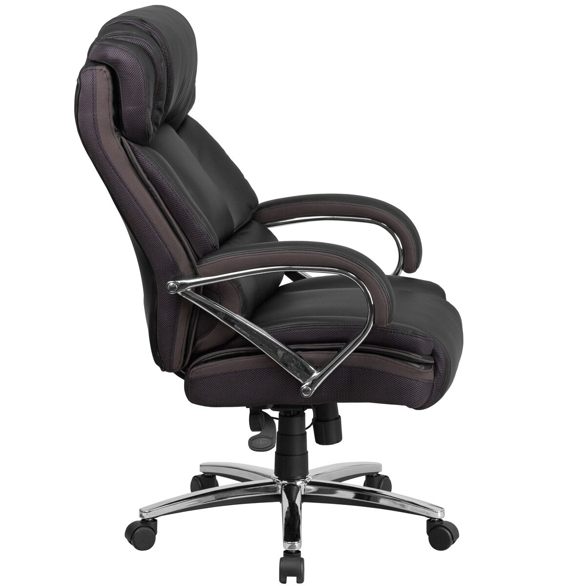 Our Hercules Series Tall 500 Lb Rated Black Leather Executive Swivel Chair With