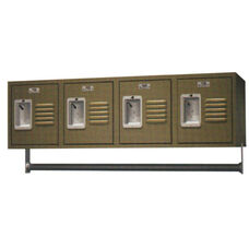 Traditional Series Quick Ship 4 Wall Mount Powder Coated Steel Locker with Recessed Handle