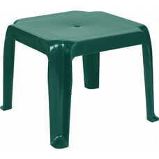 Sunray Outdoor Resin Stackable Square Side Table - Dark Green