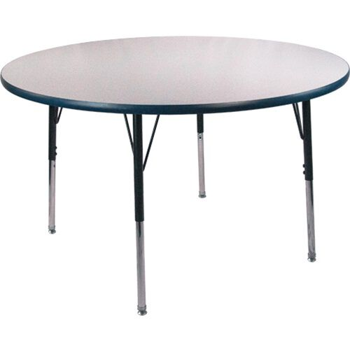 Advantage 48 in. Round Adjustable Activity Table - Grey/Navy