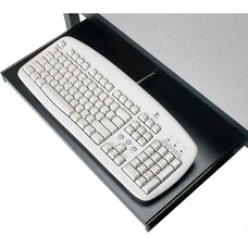 Black Steel Keyboard Tray for Carrels and Tables - 20