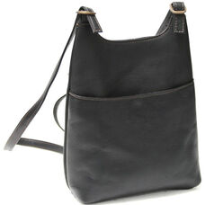Sling Backpack - Colombian Vaquetta Leather - Black