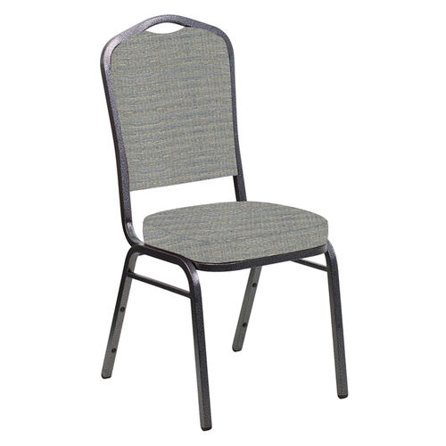 Our Embroidered Crown Back Banquet Chair in Highlands Slate Fabric - Silver Vein Frame is on sale now.