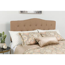 Cambridge Tufted Upholstered Twin Size Headboard in Camel Fabric