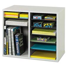 Safco® Fiberboard Literature Sorter - 12 Sections - 19 5/8 x 11 7/8 x 16 1/8 - Gray