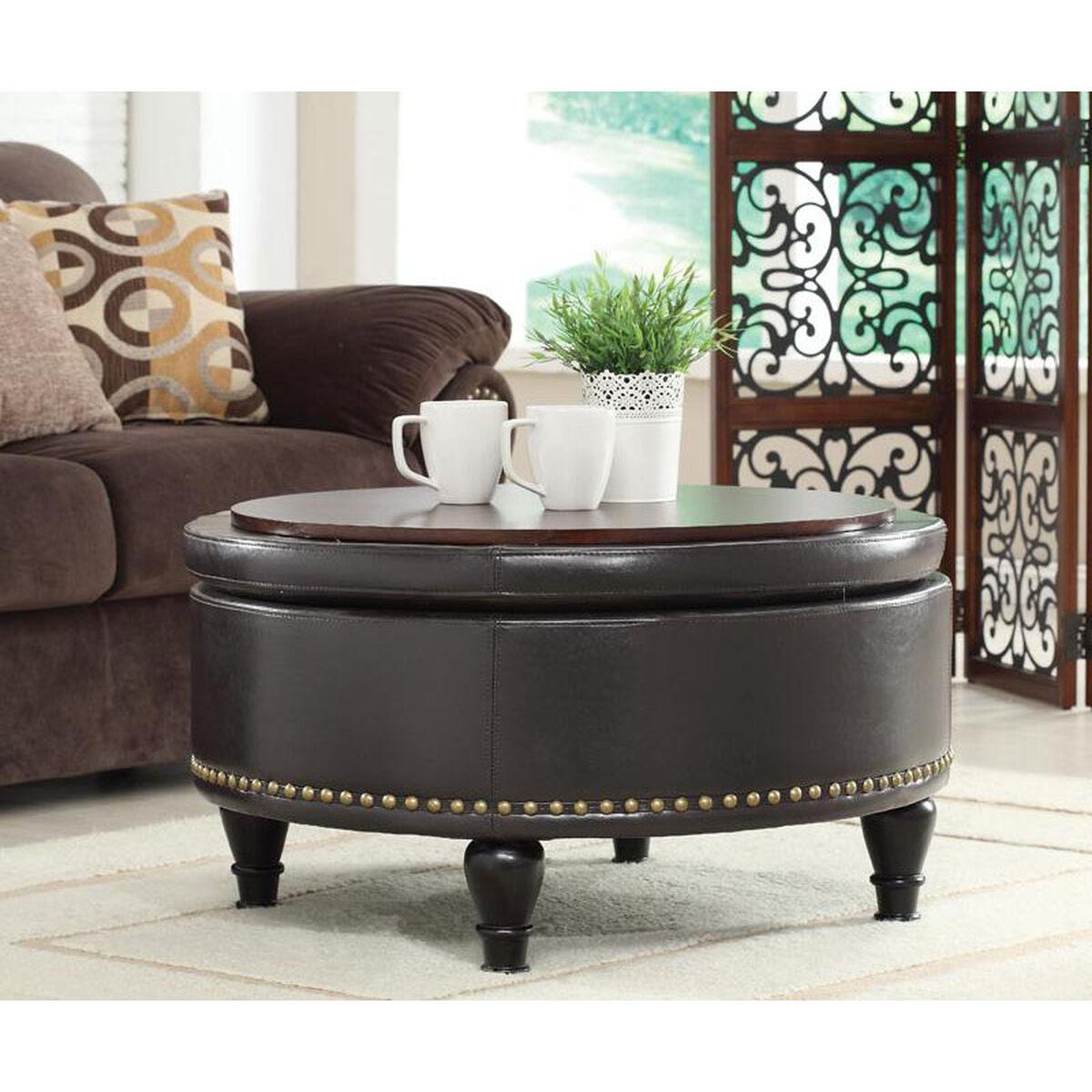 Bassett Furniture Augusta Ga: Augusta Espresso Storage Ottoman BP-AUOT32-B1