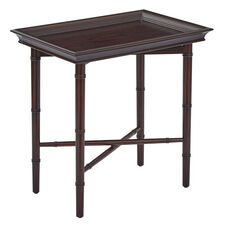 OSP Designs Salem Folding Serving Tray with Solid Wood Legs - Brown
