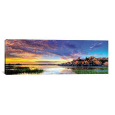 Willow Lake Spring Sunset by Bob Larson Gallery Wrapped Canvas Artwork - 36