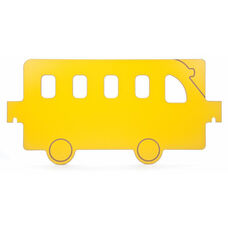 Room Divider Bus Panel with Red Side and Yellow Side in Melamine