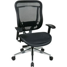 Space 818 Executive High Back Office Chair with Breathable Mesh Back and Seat and 300 lb Weight Capacity